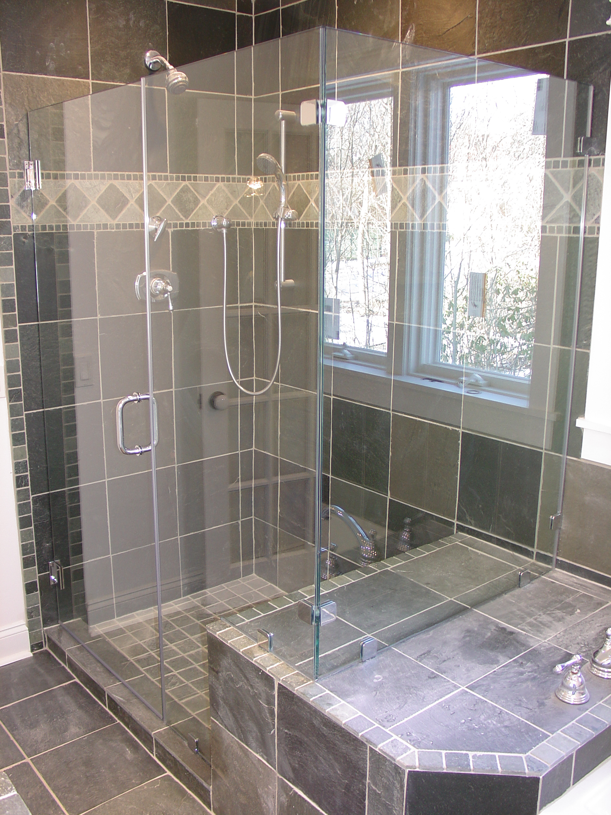 tile strip design bespoke with shower feature showers london power rain pin
