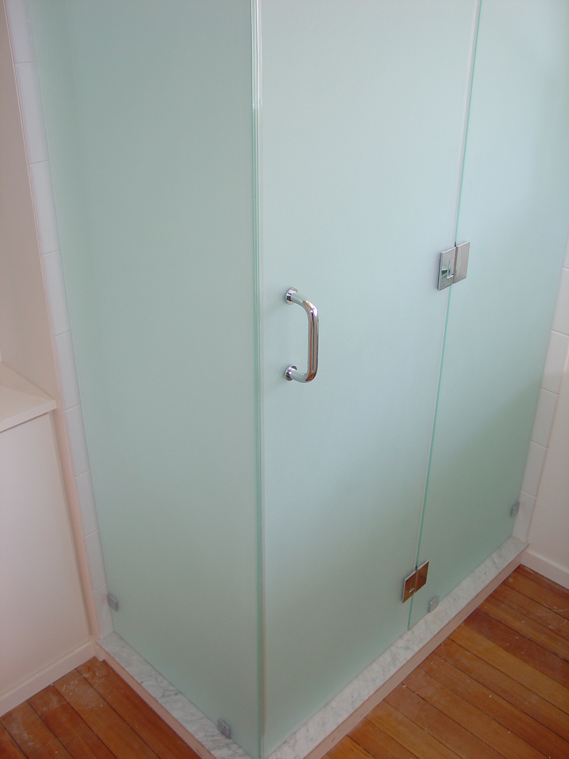 Frosted Shower Doors frosted glass shower door frameless
