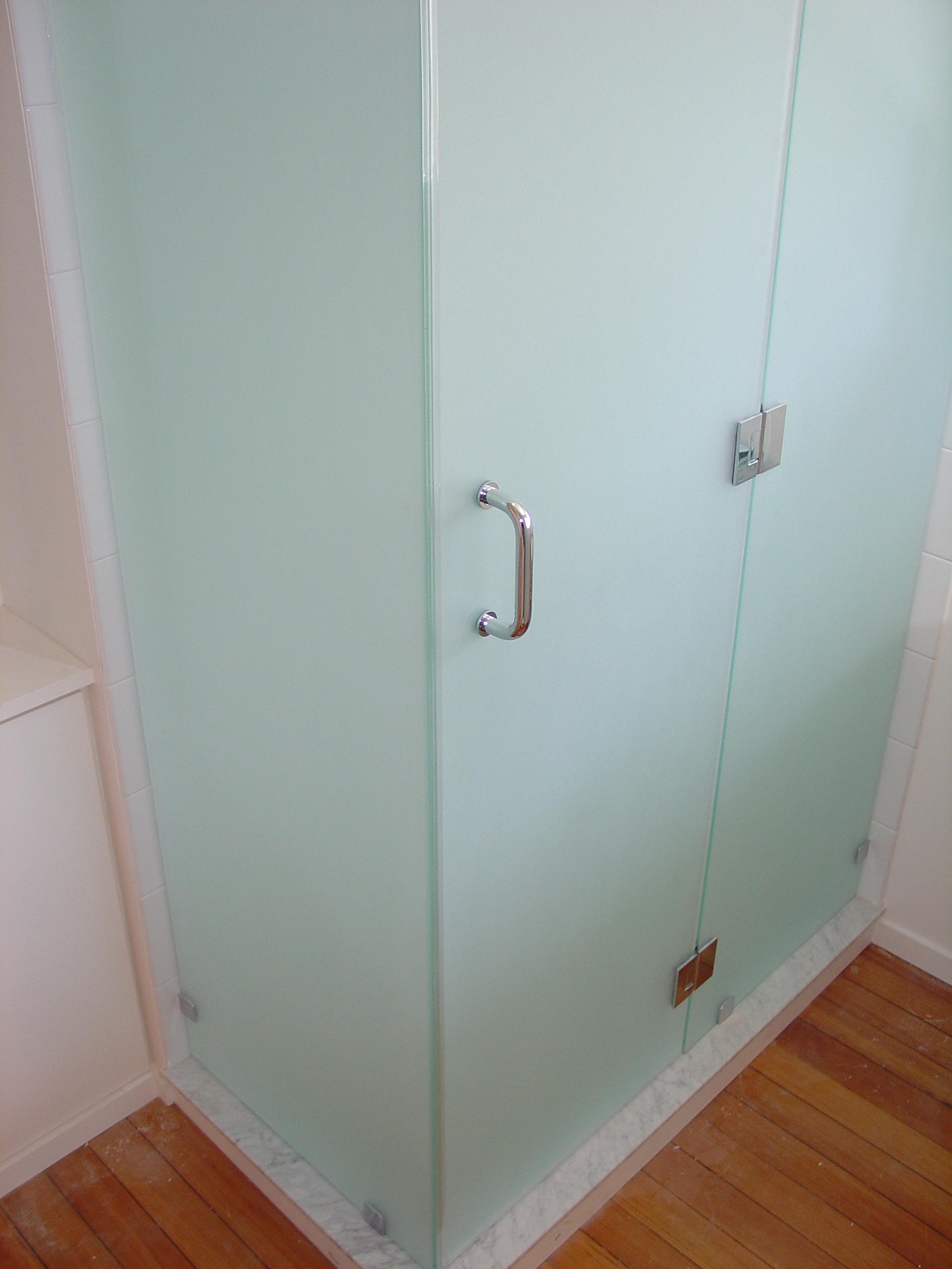 Frosted Glass Shower Doors heavy shower doors