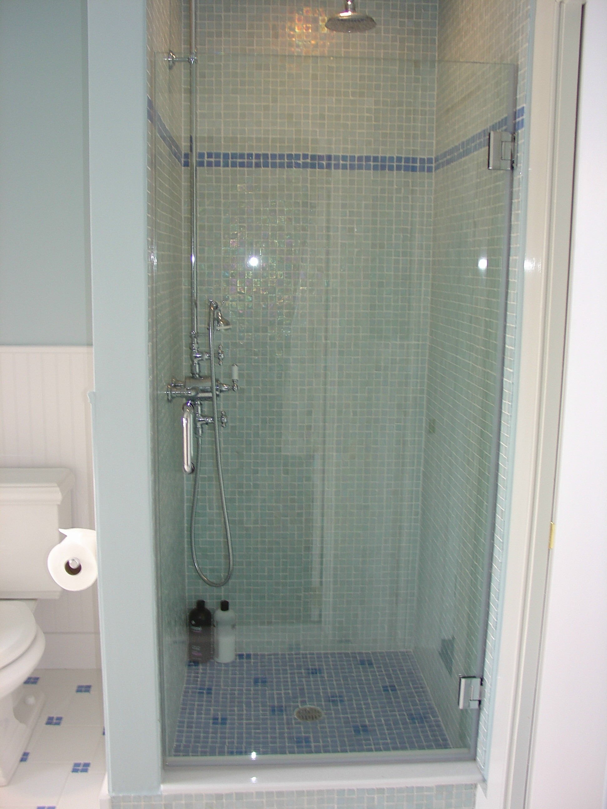 sliding corner bai frameless shower side with doors panel enclosure glass products